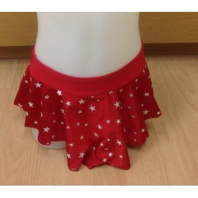 Falda patinaje Alanis estrellas color rojo