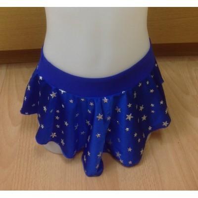 Falda patinaje Alanis estrellas color azul