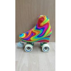 Fundas cubrepatines ondas multicolor